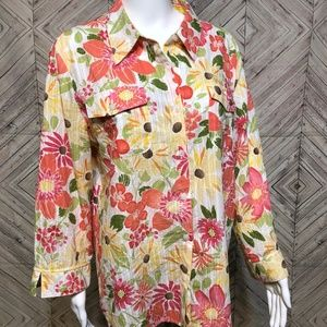 Alfred Dunner Tops - Alfred Dunner 18 floral utility blouse